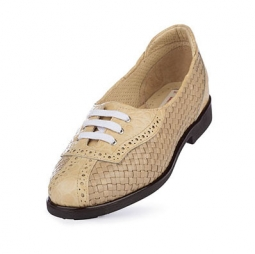 SPECIAL Aerogreen Trani Ladies Golf Shoes -  Beige/Beige Croco print