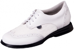 Sandbaggers Charlie Shimmer Ladies Golf Shoes – White & White Sparkle