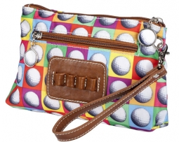 Sydney Love Ladies Golf Cosmetic Bags with Tee Holder - On the Ball