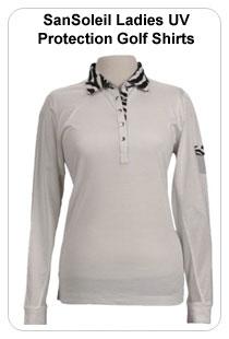 SanSoleil Ladies UVProtection Golf Shirts