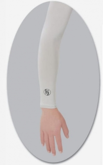 HJ Glove Sol Sleeve UV Protection Sun Sleeves - White (Pair)