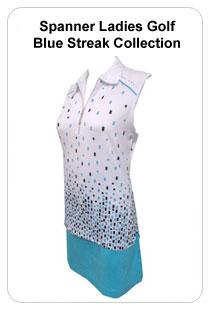Spanner Ladies Golf Blue Streak Collection