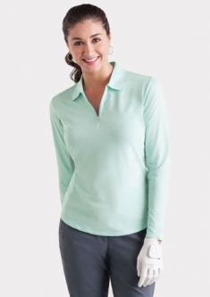 Bette & Court Ladies & Plus Size Cool Elements L/S w/ Collar UV Golf Shirts - Asst. Colors