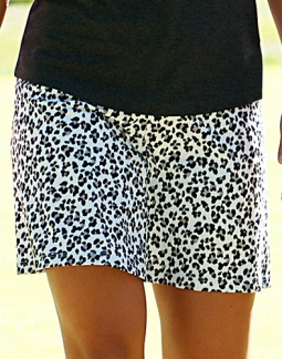 CLEARANCE JoFit Ladies Swing Jo-Dry Jersey Golf/Tennis  Skorts - Tequila Sunrise (Cheetah)