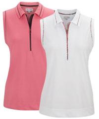 Clearance plus size apparel lori 39 s golf shoppe for Plus size sleeveless golf shirts