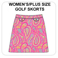 Womens/Plus Size Golf Skorts