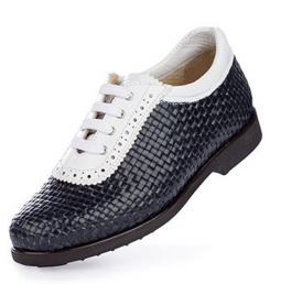 SPECIAL Aerogreen Alba Ladies Golf Shoes - Navy Blue/White