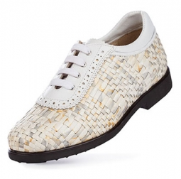SPECIAL Aerogreen Costa Ladies Golf Shoes - Silver/Multi White