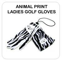 Animal Print Ladies Golf Gloves