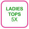 Ladies Golf Tops Size 5X