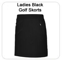 Ladies Black Golf Skorts