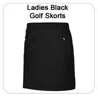Ladies Black Golf Skorts