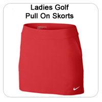 Ladies Golf Pull On Skorts