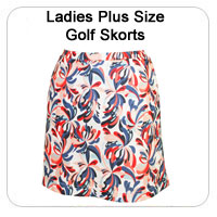 Ladies Plus Size Golf Skorts
