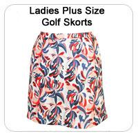 Ladies Plus Size Golf Skorts