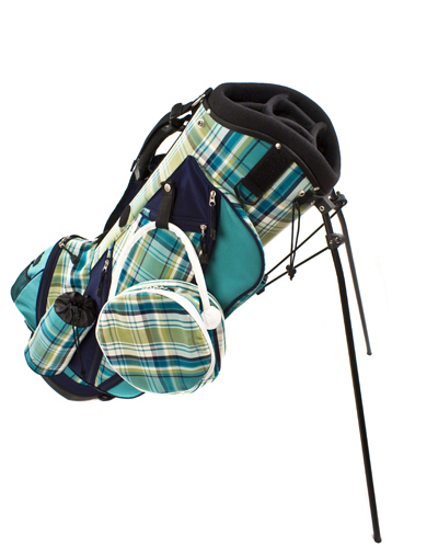 Cool 1950s Spalding Golf Bag Red Plaid Beauty