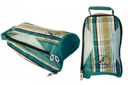 Sassy Caddy Ladies Golf Shoe Bags - Plaid/Preppy