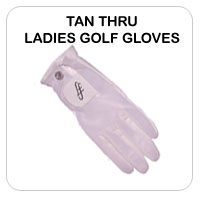 Tan Thru Ladies Golf Gloves