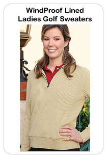 Windproof Ladies Golf Sweaters