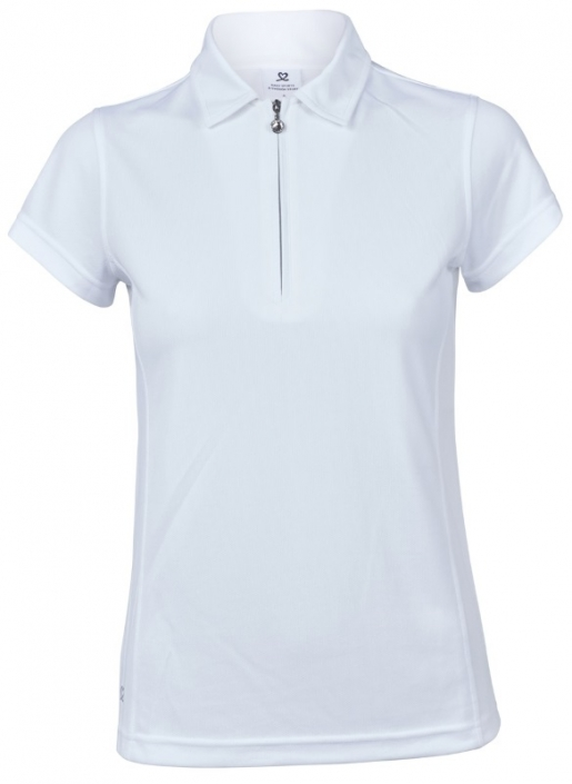 Daily Sports Ladies & Plus Size Macy Short Sleeve Golf Polo Shirts - White