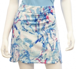 "CLEARANCE EP New York Ladies 17.5"" Pull On Golf Skorts - Al Fresco (Aquaduct Multi) Spring 2018"