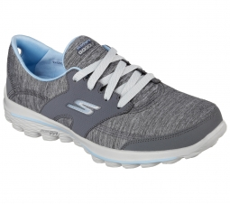 Skechers Ladies GoWalk 2 Backswing Golf Shoes - Gray/Blue