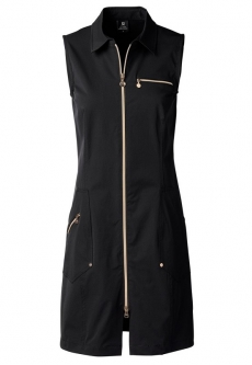 Daily Sports Ladies & Plus Size Miracle Sleeveless Golf Dress - GOLD EDITION (Black)