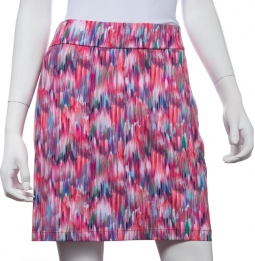 "CLEARANCE EP New York Ladies & Plus Size 19"" Print Pull On Golf Skorts - SHANGRI LA (Ripe Melon Mult"