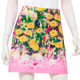 "CLEARANCE EP New York Ladies & Plus Size 19"" Monet Pull On Golf Skorts - SOLEIL (Fruit Punch Multi)"