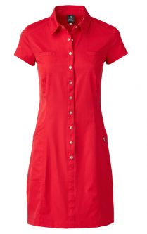 Daily Sports Ladies Lyric Cap Sleeve Golf Dress - RED DIMENSIONS (Cardinal Red)