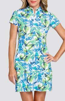 "Tail Ladies Neale 36.5"" Short Sleeve Print Golf Dress - FUN IN THE SUN (Tangled Tropics)"