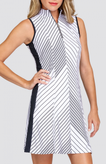 "Tail Ladies Sandra 36.5"" Sleeveless Print Golf Dress - BETTER THAN BASICS (Expedition Stripe)"