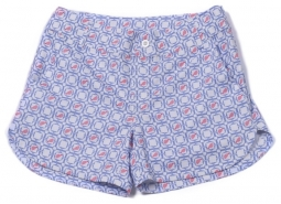 Turtles & Tees Junior Girls Cameron Golf Shorts - Periwinkle Tee's Squared