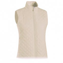 Monterey Club Ladies Quilted Microfiber Dobby Golf Vests - Assorted Colors