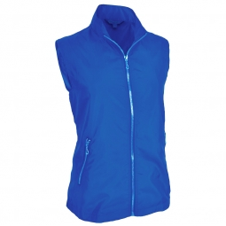 Monterey Club Ladies & Plus Size Lightweight Mini Plaid Zip-up Golf Vests (Assorted Colors)