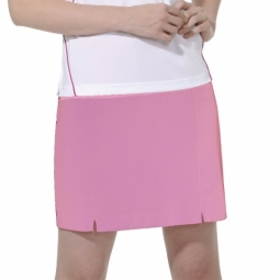 2d497b1dca2 CLEARANCE Monterey Club Women s Plus Size Dry Swing Pull On Knit Golf Skorts  - Cotton Candy