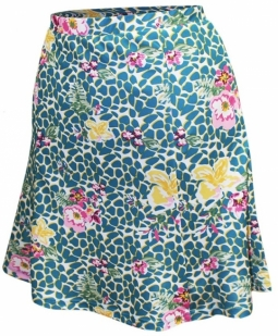 bea8007f402 Monterey Club Ladies   Plus Size Vivid Flower Leopard Pull On Golf Skorts -  Two Colors