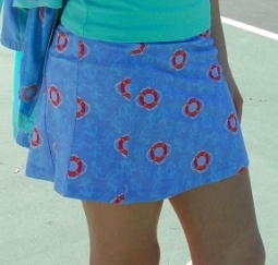 Turtles & Tees Junior Girls Christina Golf Skort with Back Pleats - All Knotted Up