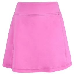 Turtles & Tees Junior Girls Krissy Pull On Golf Skorts with Back Pleats - Solid Pink