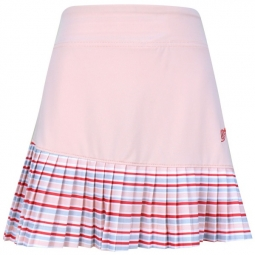 Turtles & Tees Junior Girls Charlee Accordian Pleat Pull On Golf/Tennis Skorts - Pale Pink Print