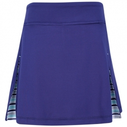 Turtles & Tees Junior Girls Jules Knit Peekaboo Pleated Pull On Golf/Tennis Skorts - Navy Blue
