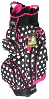 Molhimawk Ladies M2500 Golf Cart Bags - Pink Polka Dot