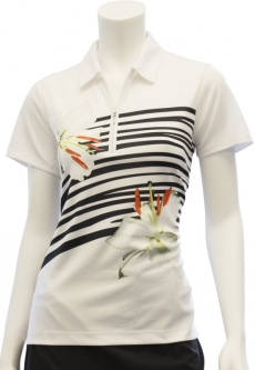 CLEARANCE EP New York Ladies S/S Golf Shirts - Culture Clash (White Multi) Spring 2018