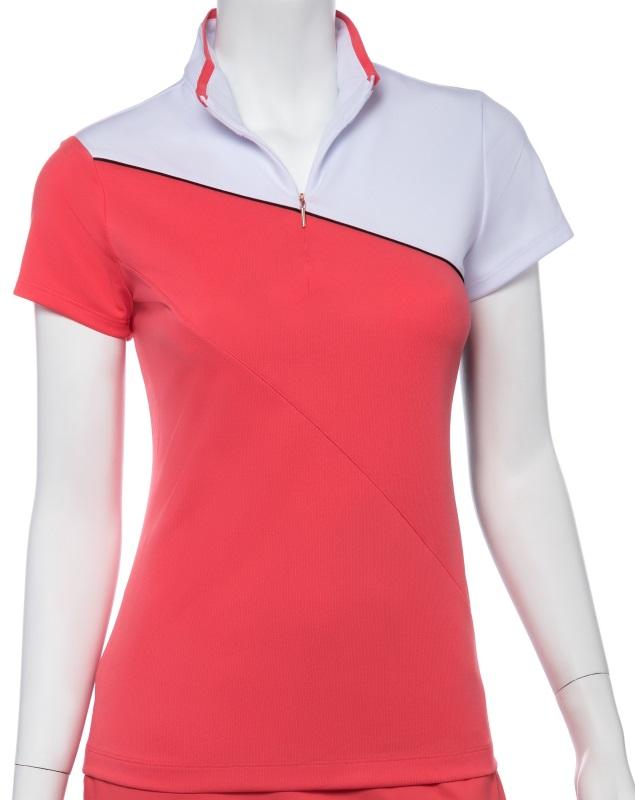 SALE EP New York Ladies Cap Sleeve Golf Shirts - SHANGRI LA (Ripe Melon Multi)