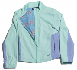Turtles & Tees Junior Girls Alexia Windbreaker - Seafoam/All Knotted Up