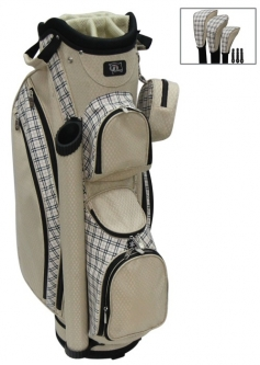 "RJ Sports Ladies LB-960 9"" Golf Cart Bags - Sand Plaid"