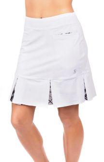 "SPECIAL Sofibella Ladies 18"" Pull On Golf Skorts - COLORS COLLECTION (White)"