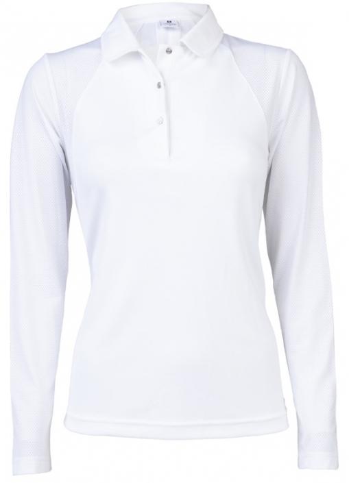 2bdbd4871ef Lori s Golf Shoppe  Daily Sports Ladies   Plus Size Enya Long Sleeve Golf  Polo Shirts - White