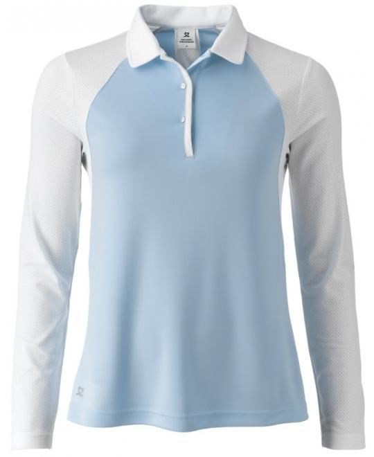 261ef4d9 Daily Sports Ladies & Plus Size Enya Long Sleeve Golf Polo Shirts - Mermaid