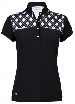 Daily Sports Ladies & Plus Size Brie Short Sleeve Golf Shirts - Black